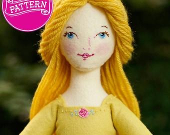 PDF Pattern, Felt Doll Pattern, Art Doll, Cloth Doll, Toy Sewing Pattern, Doll Tutorial, Soft Doll Pattern, Waldorf doll, Felt Doll