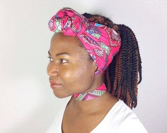 ankara head wrap, women accessories, women's gift, african head wrap, choker, button earring, ankara head wrap set, boho necklace