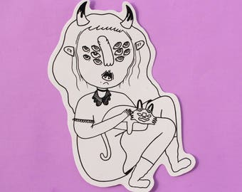 Witchy Pet  - Sticker