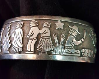 Cuff Native American Story Bracelet