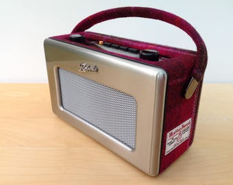 Stainless Steel and Harris Tweed Roberts Revival DAB Radio