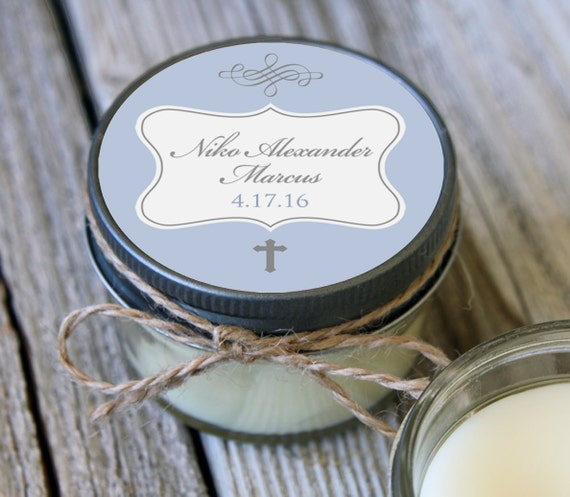 60 - 4 oz Baptism Favor//First Communion Favor//Soy Candle Favor//Personalized Baptism Favor//Shower Favor//Chalkboard Favors//