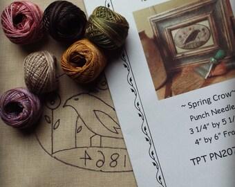 Punch Needle Kit Spring Crow Valdani Threads