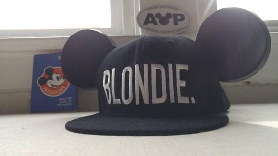 Mickey Hat. Blondie.