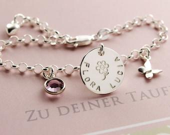 Children bracelet with engraved christening jewellery baptism bracelet