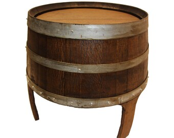 Wine Barrel Side Table/ Patio Table/ Outdoor Table/ End Table/side table/outdoor furniture/ indoor furniture/ patio furniture Barrel Art