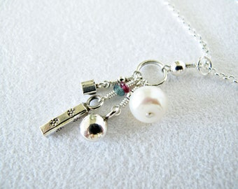 A Pearl and Her Girls Necklace