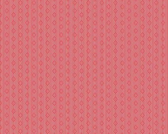 """Penny Rose Fabrics   by Sue Daley   """"Linen and Lawn""""  Red Stripe  Cotton Lawn 54"""" Wide"""