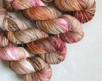 Peachface Fingering (Test) 'Rose Gold' Hand Dyed Yarn