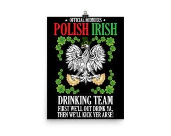 Polish Irish photo paper poster