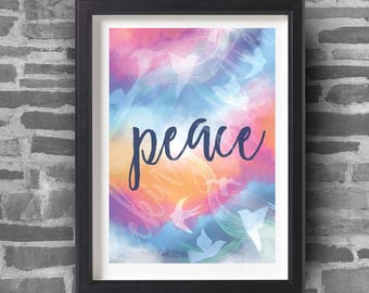 Peace - A4 Art Print