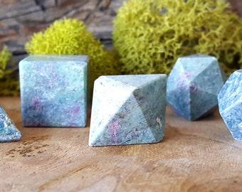 Ruby in Fuchsite Crystal Platonic Geometry 7 pc Set - 661
