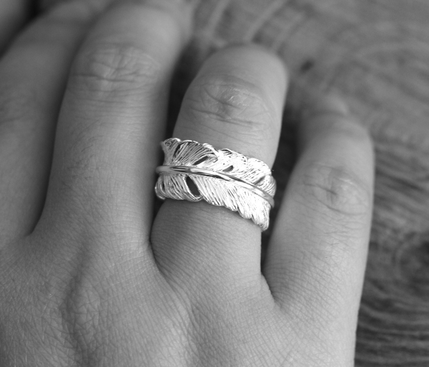 wide recycled coffin jewelry products feather feath gold engagement rings front band kristin wedding set and cropped