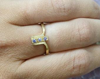 SALE! Alexandrite ring,Lavender Ring,June Birthstone,Gemstones Ring,Stacking Ring,Simple Ring ,Alexandrite Jewelry
