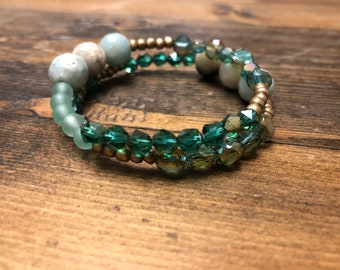 Spring wrap bracelet