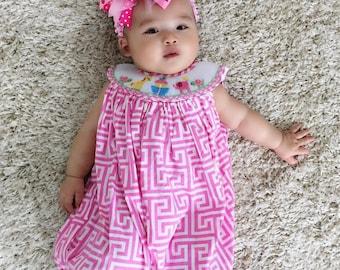 Dana Kids Animals Smocked romper Baby Toddler Boys 6 Months to 4T