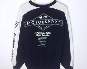 Rare Design Vintage Bridgestone Motosport Big Logo Sweatshirt
