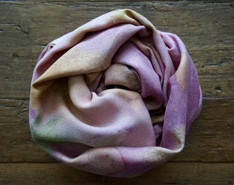 SILK SCARVES & WRAPS Accessories, Wearable art scarves for Women, Handprinted with leaves, shawls and Wraps, Mother's Day