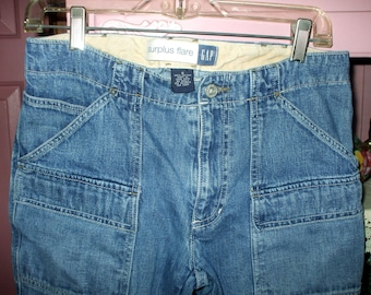 "Vintage Gap Jeans Women's Size 8 Flare Jeans Inseam 31""Retro Blue Jeans 100% Cotton"