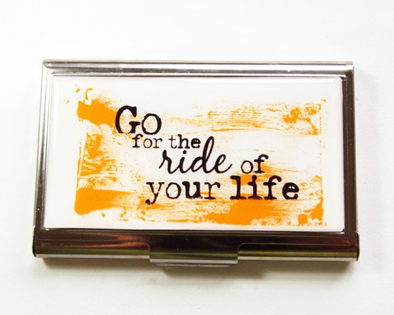 business card case inspirational words card case business