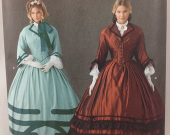 Misses Simplicity  1818 pattern  Civil War Gown or Dress Costume, Gone with the Wind, Reenactment  Sizes 8-14  Uncut