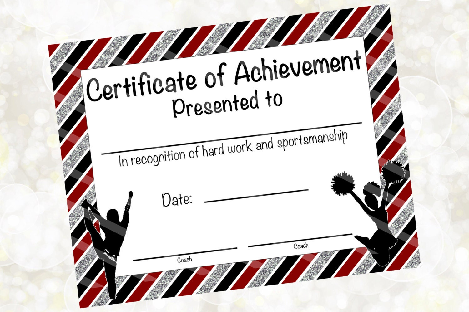 Cheerleading certificate cheerleading award cheerleading zoom xflitez Images