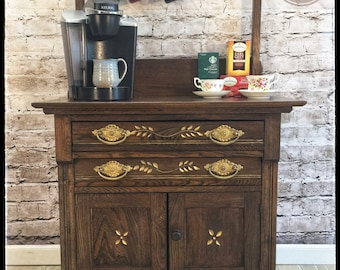 Antique washstand / dry sink /coffee / tea bar