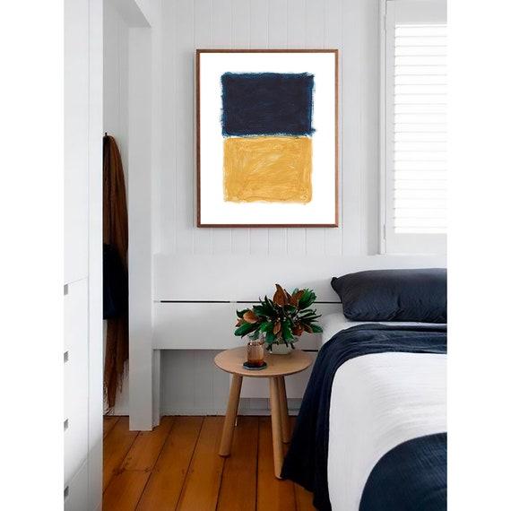 Modern Abstract Wall Art, Abstract Print, Abstract Wall art ,Modern Art, Wall Art, Digital Download, Blue Mustard, Art Print, Minimalist Art