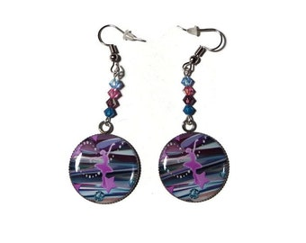 Earrings cabochon dancer - ballet teacher gift - dancer gift