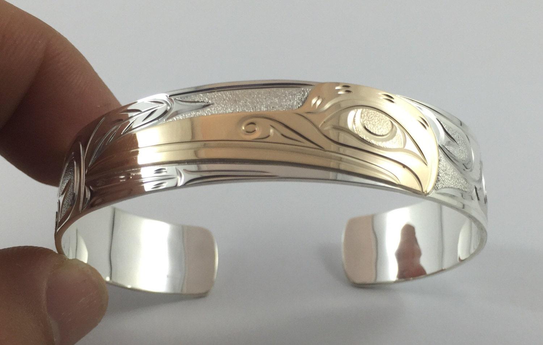 Northwest coast first nations hummingbird native bracelet 14k zoom biocorpaavc Gallery
