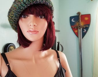 Green and purple Beret