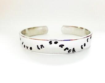 Personalized Cuff Bracelet, Message Bracelet, Silver Bracelet, Adjustable Bracelet, Graduation Gift, Hand Stamped Bracelet, Customizable