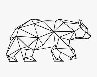 Geometric Polar Bear Decal