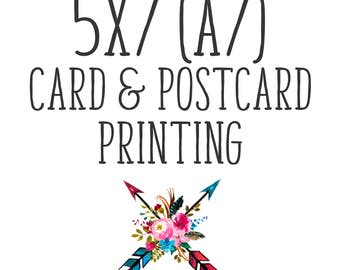 5x7 Card & Postcard Printing. Doubled Sided 5x7 Cards. Ice Pearl, Double Thick Cards, Triple Thick Card Printing. Add to Digital Design.