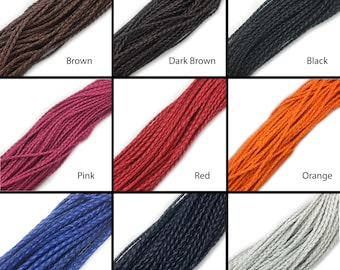 Braided Faux Leather Cord 3mm 5 Yards