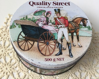 Vintage Quality Street Tin, Early 1980's Rare
