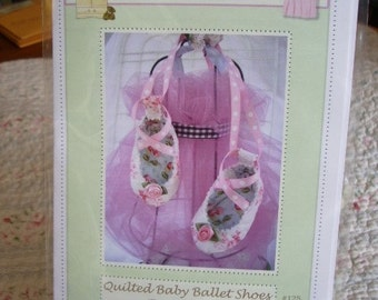 PDF Pattern Quilted Baby Ballet Shoe  Adorable and Fun to make- Instant Download