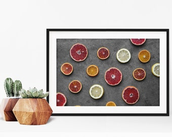 citrus v. three // food photography print // kitchen decor // kitchen wall art  // dining room wall art // rustic wall art // citrus fruit