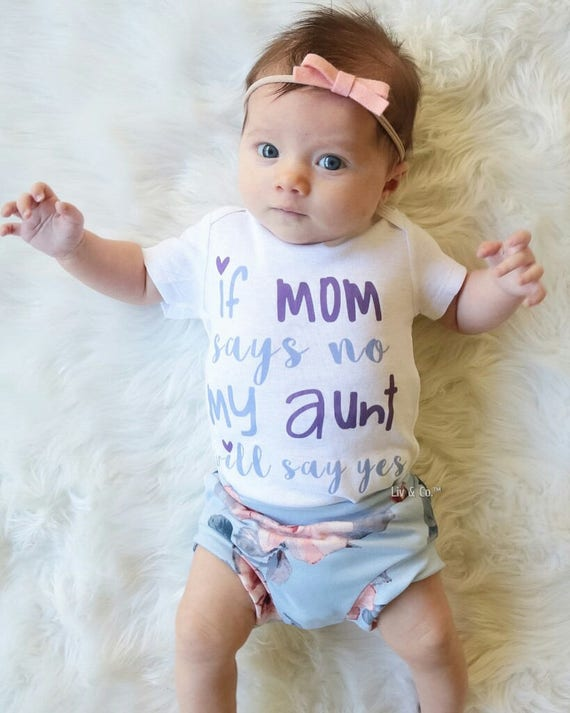 Aunt Baby Clothes Auntie Aunt Shirts I Love My Aunt Baby Gift