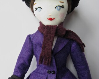Mary Poppins Vintage Style Cloth Art Doll Made to Order