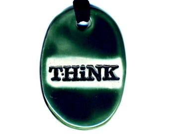 Think Necklace in Green