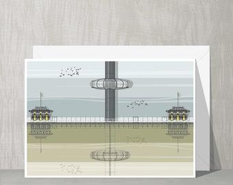SALE Brighton Architecture Blank Card - i360 Tower