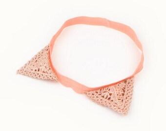 Cat ear headband, baby headband, cat headband, Halloween headband, crochet headband, girls headband, hair accessories, set of 5pcs, HEA-34