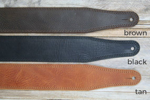 GS41 Leather Guitar Strap in 3 styles