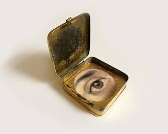 Lover's Eye - Oil Painting In Brass Bait Box