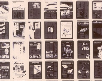 12 Sheets of Microfiche - Mixed Media, Collage, Cards, Crafts, ATCs