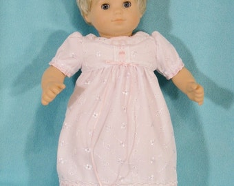 15 inch Doll White Eyelet Dress, Bloomers Lace Socks and Shoes