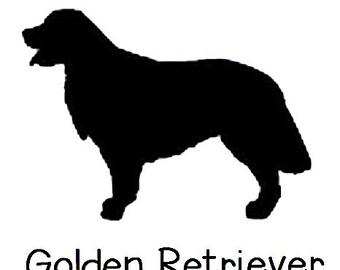 DIY Golden Retriever Dog Vinyl Decal, Golder Retriever Lover, Laptop Decal, Tablet Decal, Cell Phone Decal, Car Window Decal