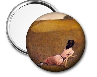 Christina's World..Andrew Wyeth..Pocket Mirror, Magnet, Pinback..Accessory..Birthday Gift..Party Favor