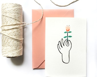 Any Occasion Greeting Card   Flower For You